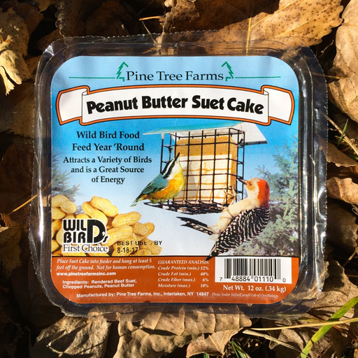 Pine Tree Farms 12oz Peanut Butter Suet Cake