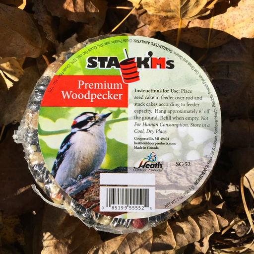 Heath Premium Woodpecker Stack'm 7oz. Seed Cake