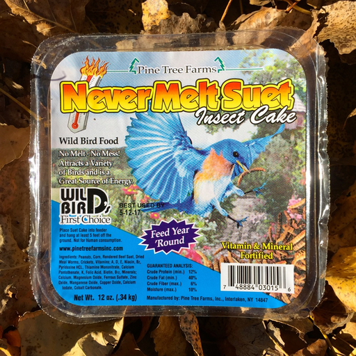 Never Melt Insect Suet Cake by Pine Tree Farms