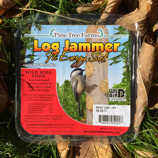 Pine Tree Farms Log Jammer High Energy Suet Plugs 9.4oz