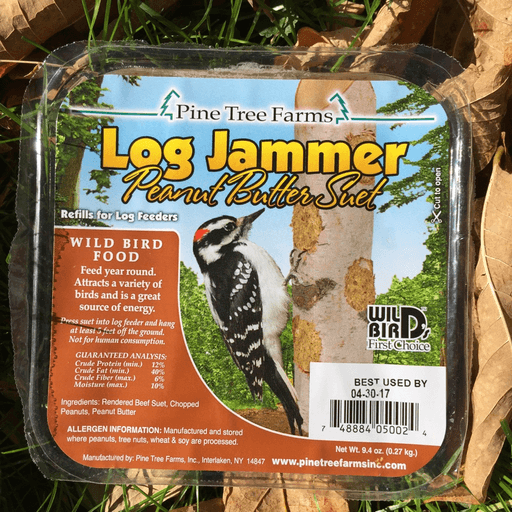 Pine Tree Farms Log Jammer Peanut Butter Suet Plugs 9.4 oz