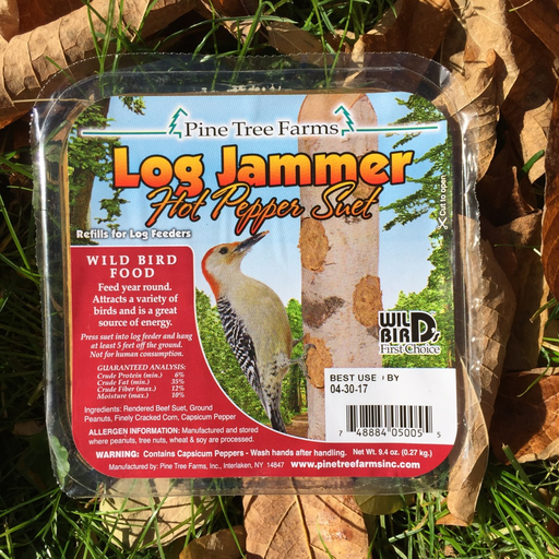 Pine Tree Farms Log Jammer Hot Pepper Suet Plugs 9.4oz