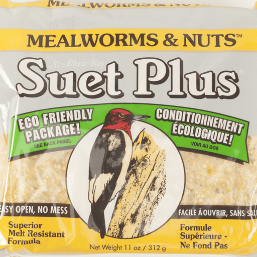 Suet Plus Mealworm & Nuts Suet Cakes by Wildlife Sciences