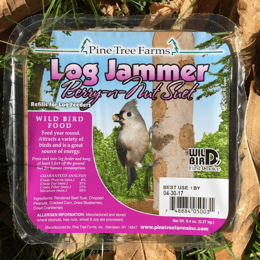Pine Tree Farms Log Jammer Berry N Nut Suet Plugs 9.4oz