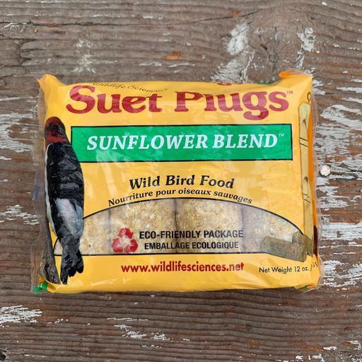 Sunflower Blend Suet Plugs by Wildlife Sciences