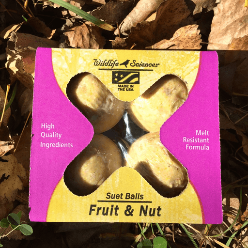Wildlife Sciences Fruit & Nut Suet Ball 4pack