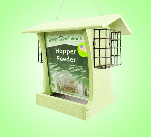 Green Solutions Large Hopper Feeder w/ 2 Suet Trays