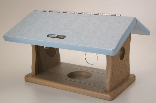 Bird's Choice Recycled Bluebird Feeder - Blue Roof
