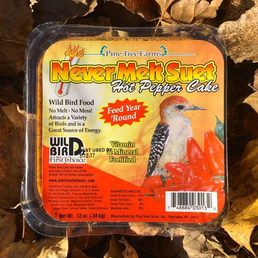 Never Melt Hot Pepper Suet Cake by Pine Tree Farms