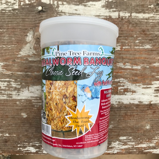 Pine Tree Farms 28oz Mealworm Nut Classic Seed Log