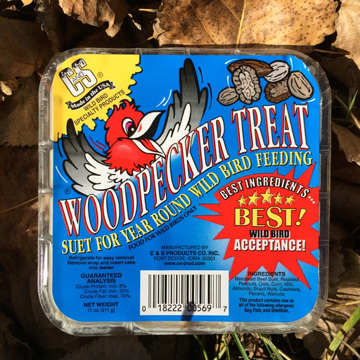 C&S Woodpecker Treat Suet Cake