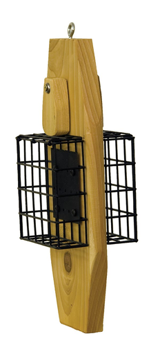 Stovall Products Double Suet Basket on Cedar Base