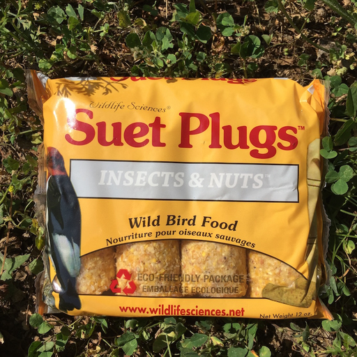 Suet Plus Insects and Nuts Suet Plugs by Wildlife Sciences