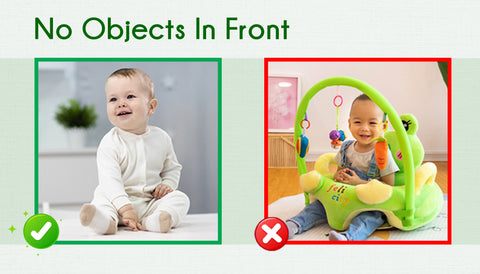 No Objects In Front - Baby Photo Guide