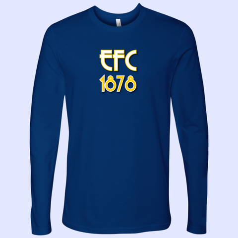 EFC 1878 Art Deco Next Level Mens Long Sleeve - The Toffees Shop