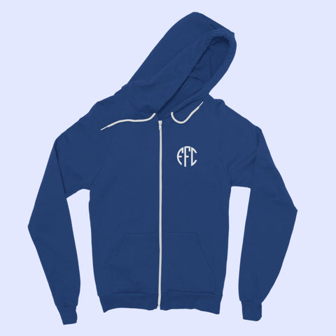 EFC Circle Monogram Classic Adult Zip Hoodie - The Toffees Shop