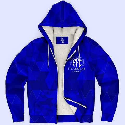 EFC It's Not 90 Minutes It's Our Life Microfleece Zip Hoodie - AOP