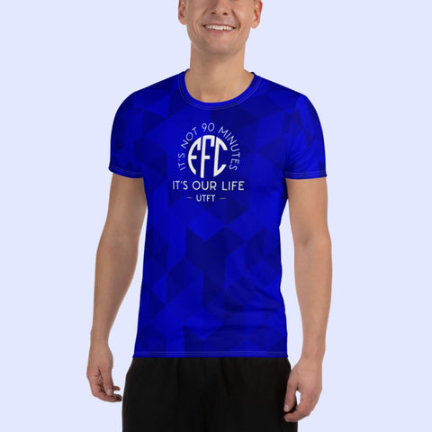 EFC It's Not 90 Minutes It's Our Life All-Over Print Men's Athletic T-shirt