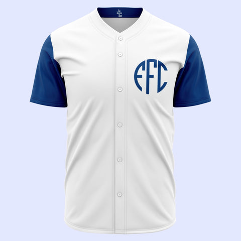 EFC Monogram White Baseball Jersey - The Toffees Shop