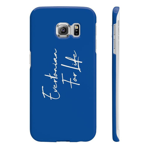 Evertonian For Life Script Wpaps Slim Phone Case - The Toffees Shop