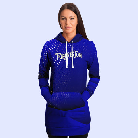 Foreverton All Over Print Fashion Longline Hoodie