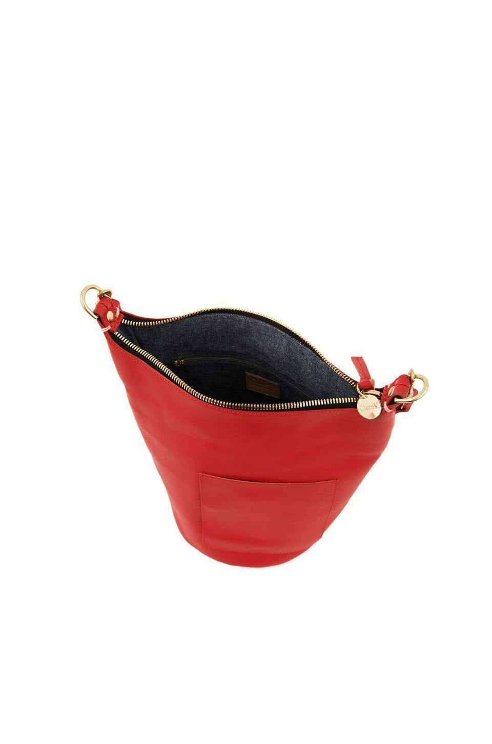 Clare V Petite Jeanne Purse In Cherry Red
