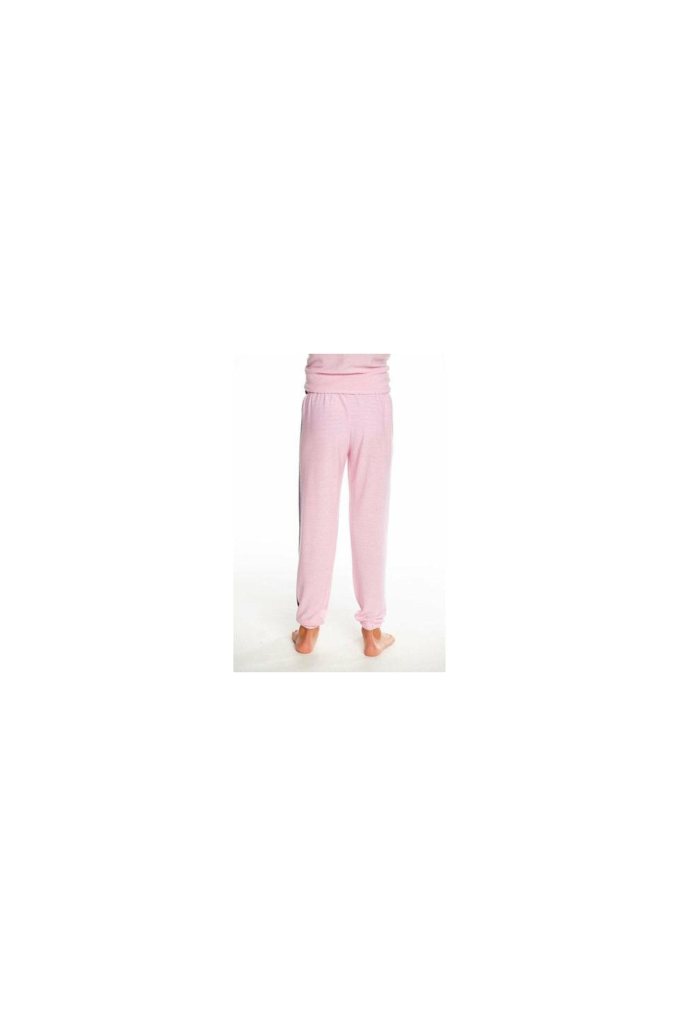 Chaser Stripe Sweatpants In Knit Pink Cloud