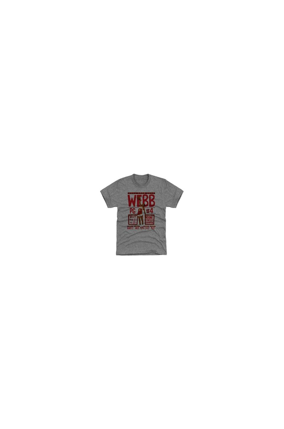 Spud Webb Stats Premium Basketball T-Shirt In Tri Grey
