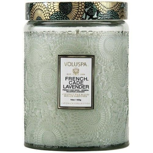 Voluspa French Cade Lavender Large Glass Jar Candle