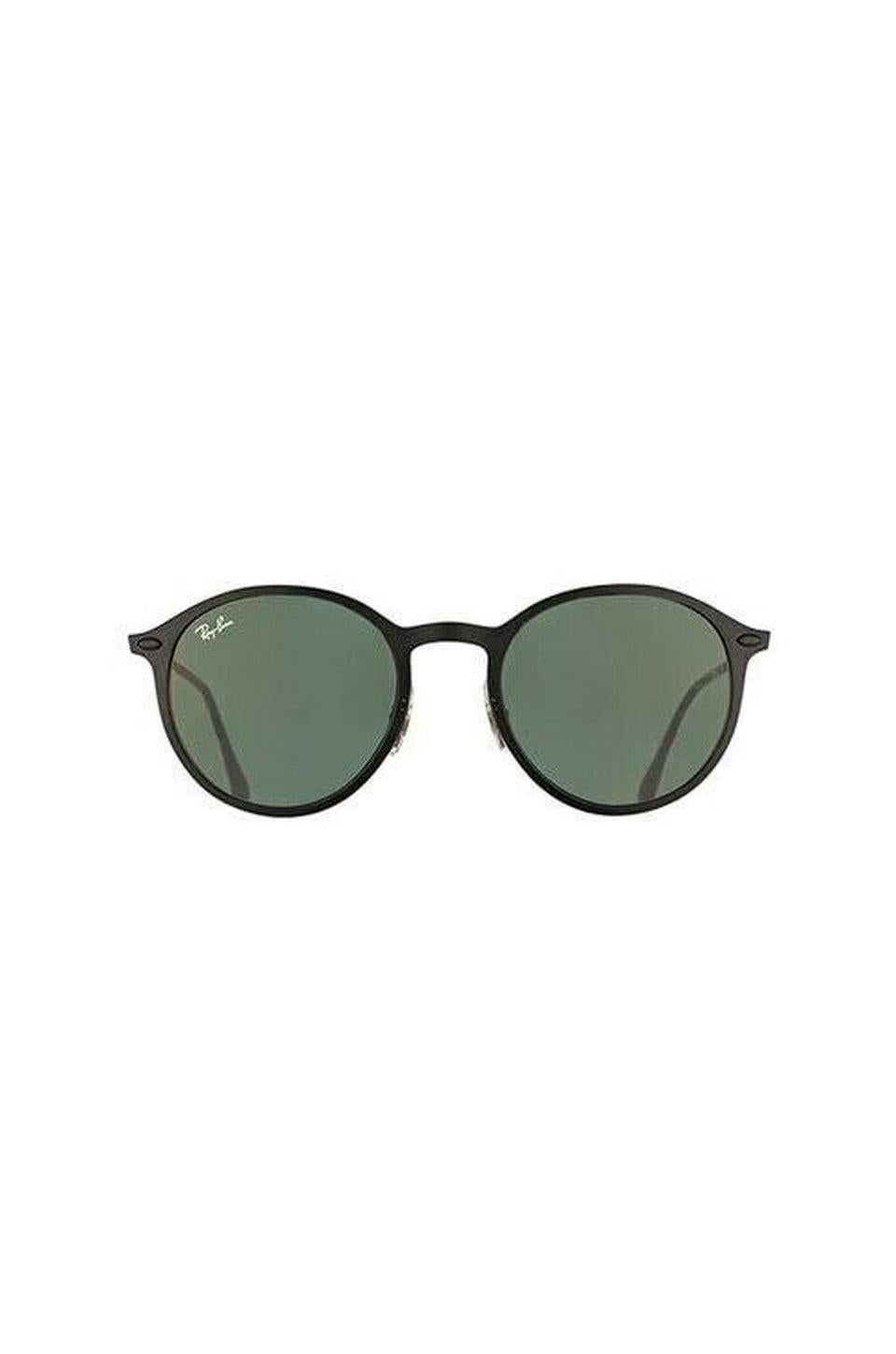 Ray-Ban RB4224 Round Light Ray Sunglasses In Black & Green