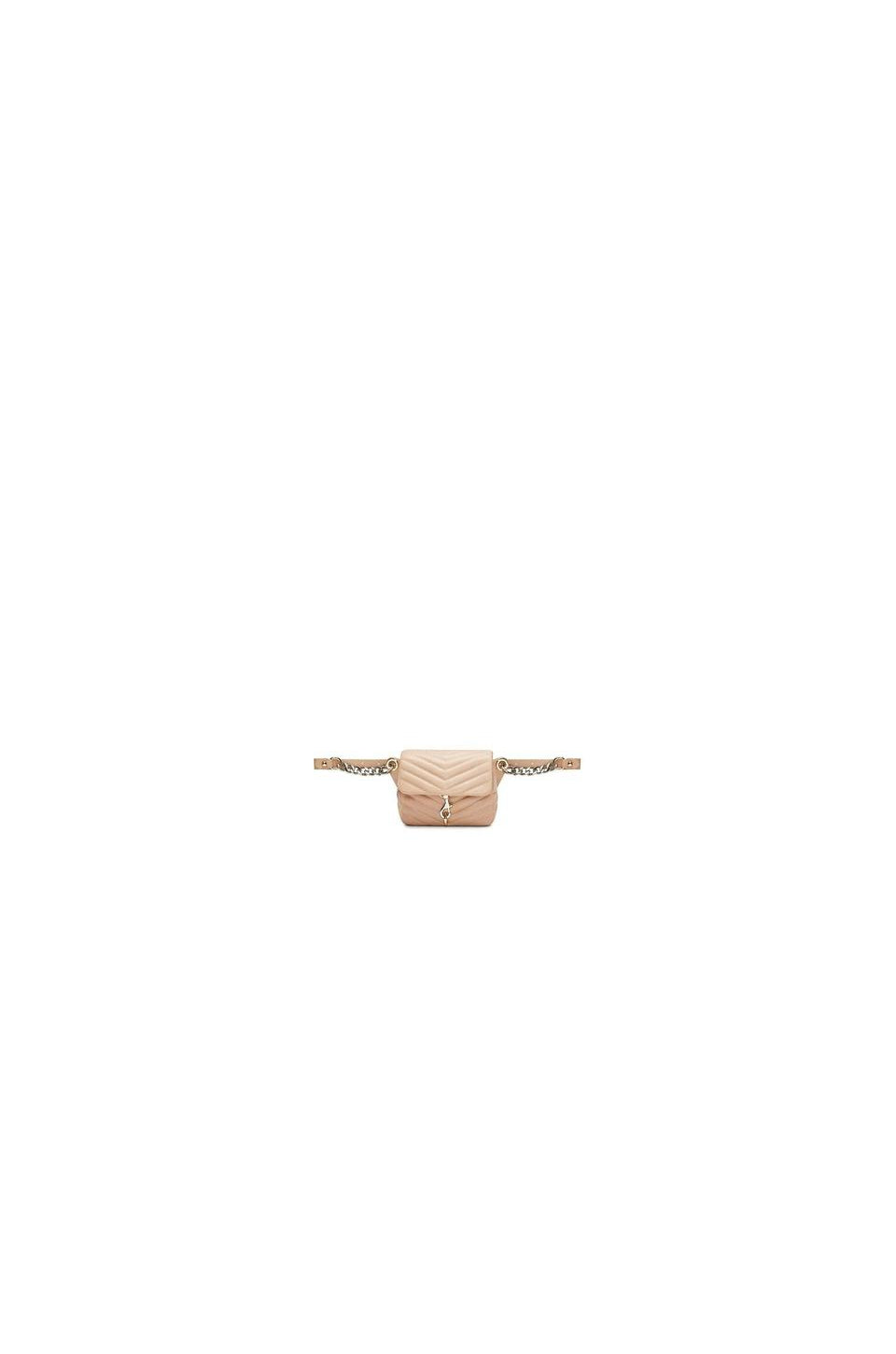 Rebecca Minkoff Edie Chain Belt Bag In Doe