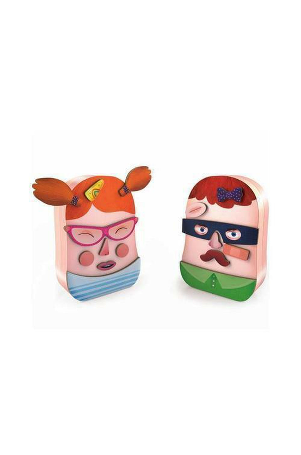 Djeco Wooden Magnetic Portrait Playset Tin Box