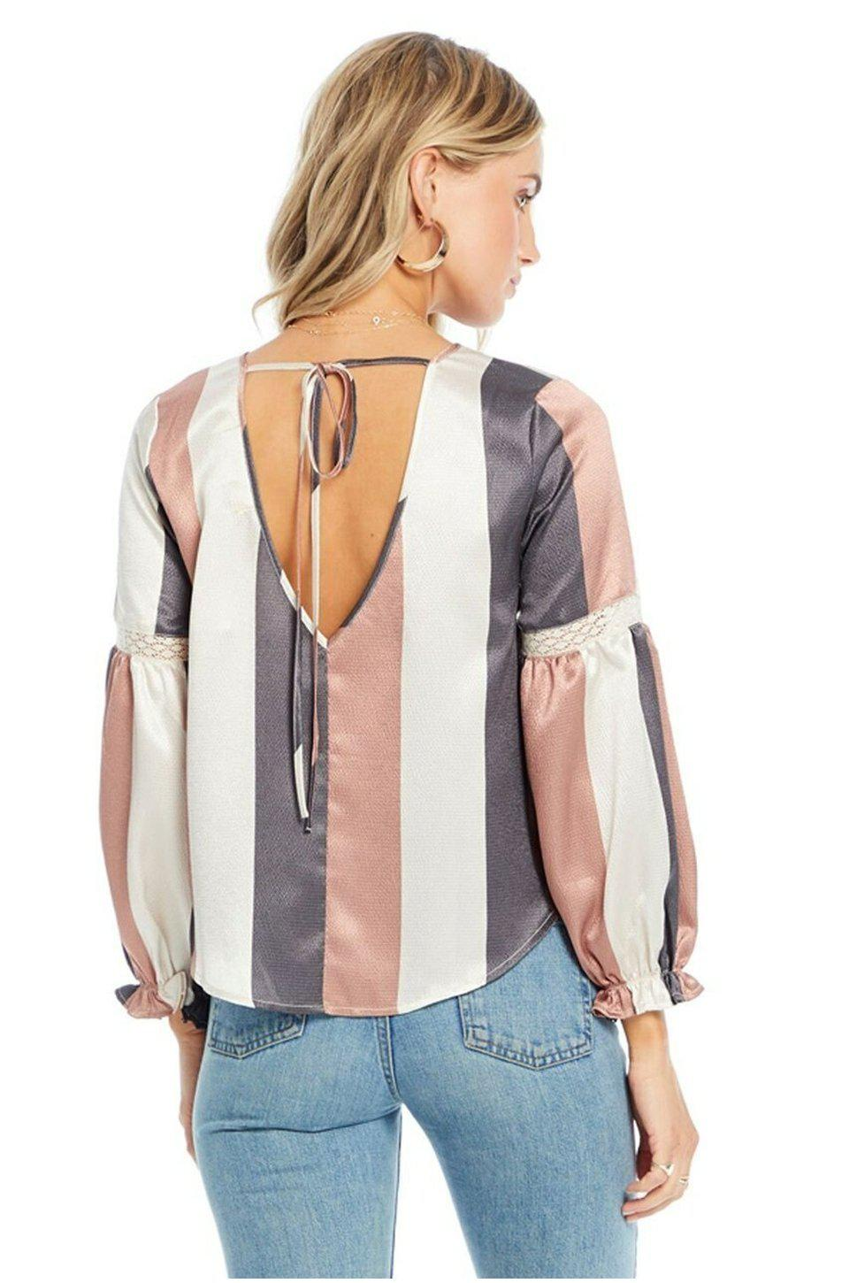 Saltwater Luxe Iris Blouse In Wonder Stripe