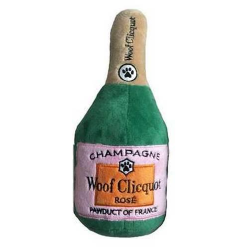 Woof Clicquot Rosé Champagne Bottle Toy Small