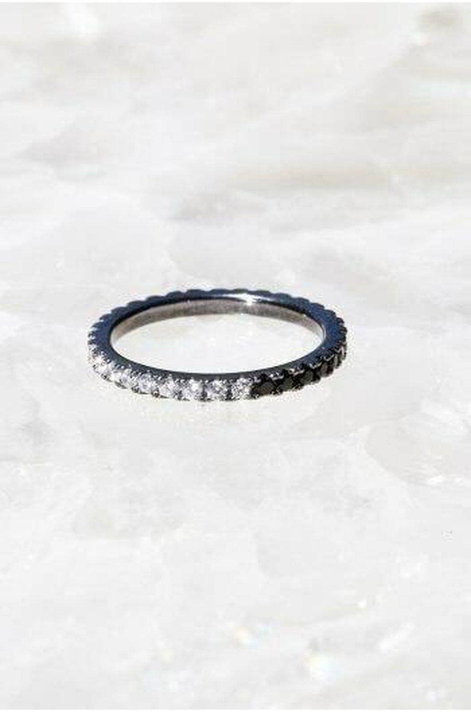 Native Gem Eternity Band In Edge Stack