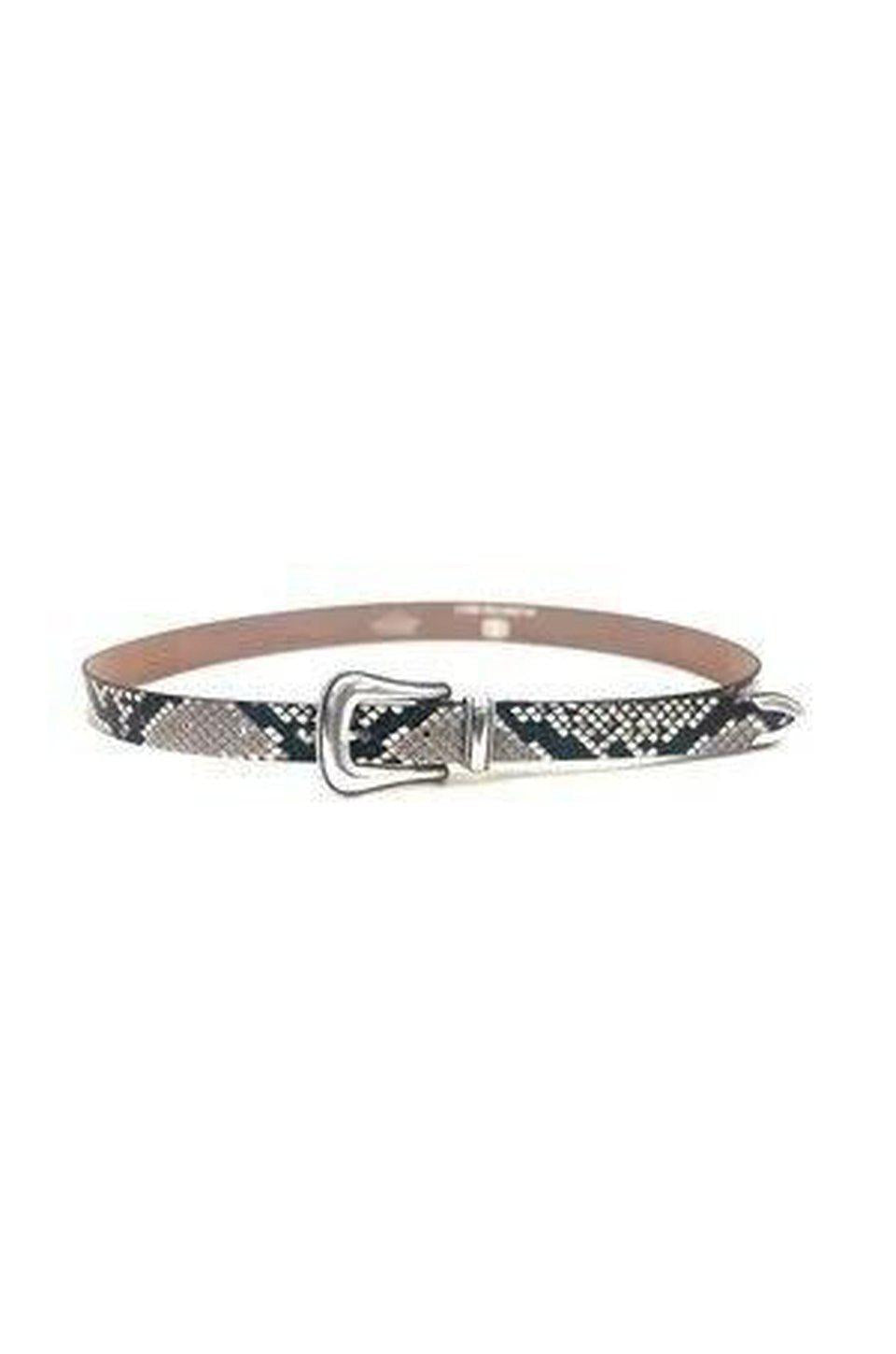 B-Low The Belt Wylder Python Belt In Silver