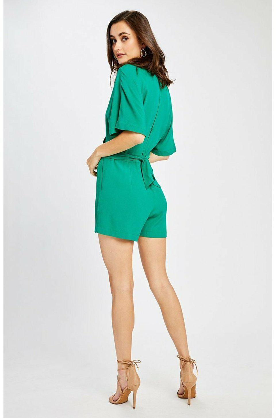 Gentle Fawn Miami Romper In Spring Green
