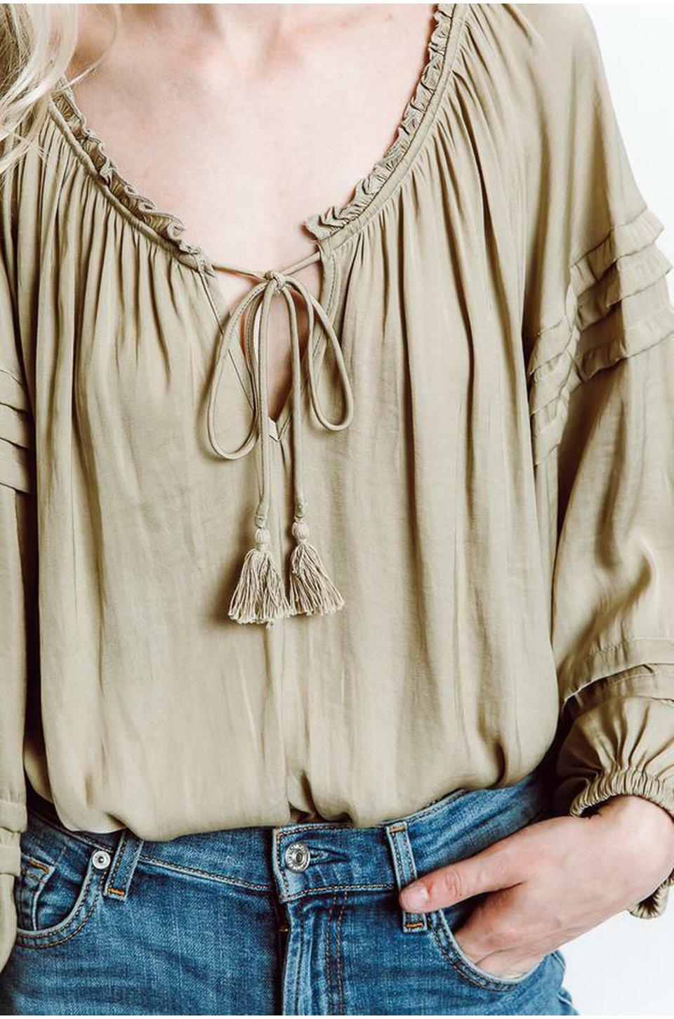 Free People All Tucks Bodysuit In Army