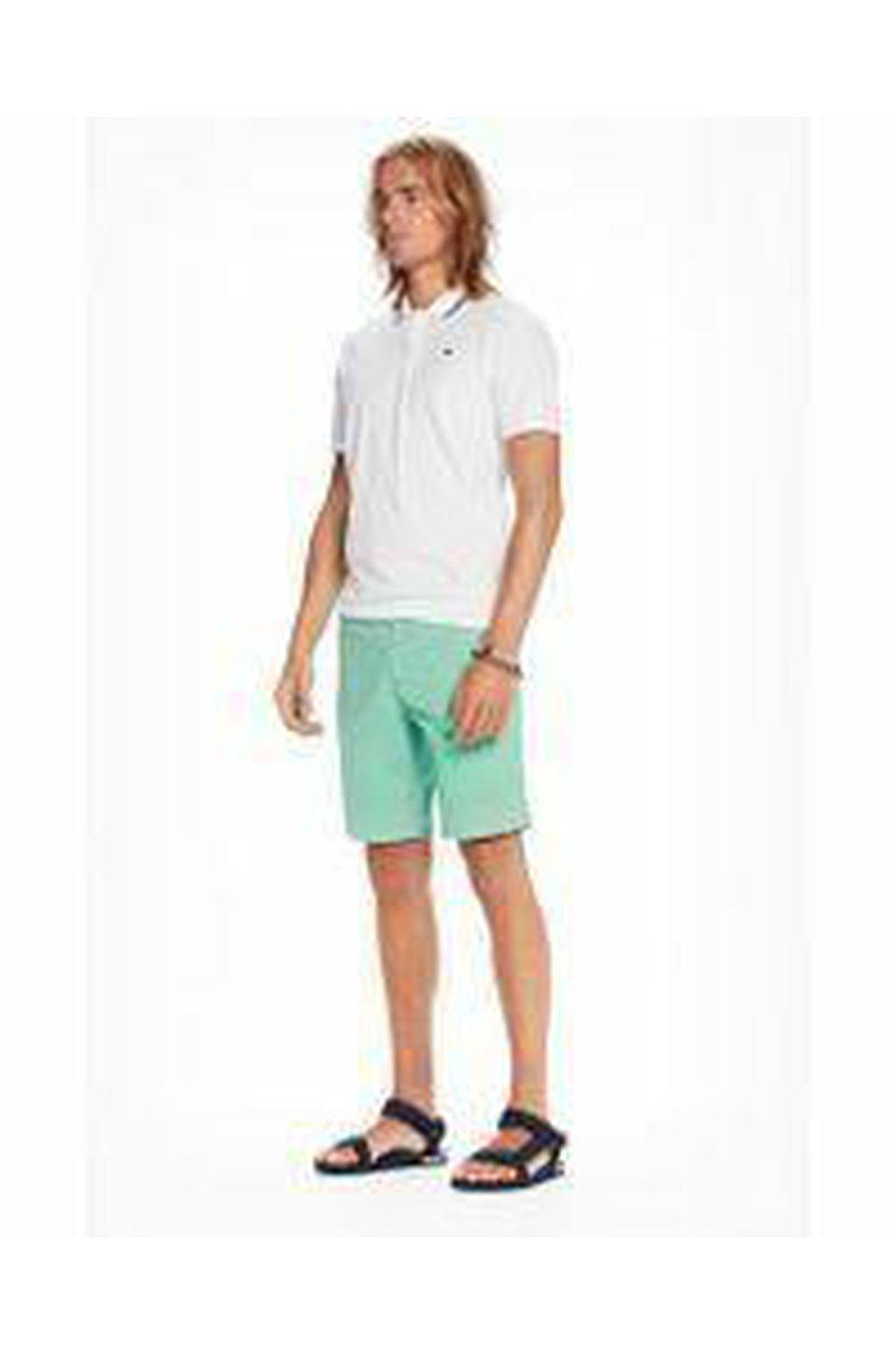 Scotch & Soda Classic Chino Shorts In Jade