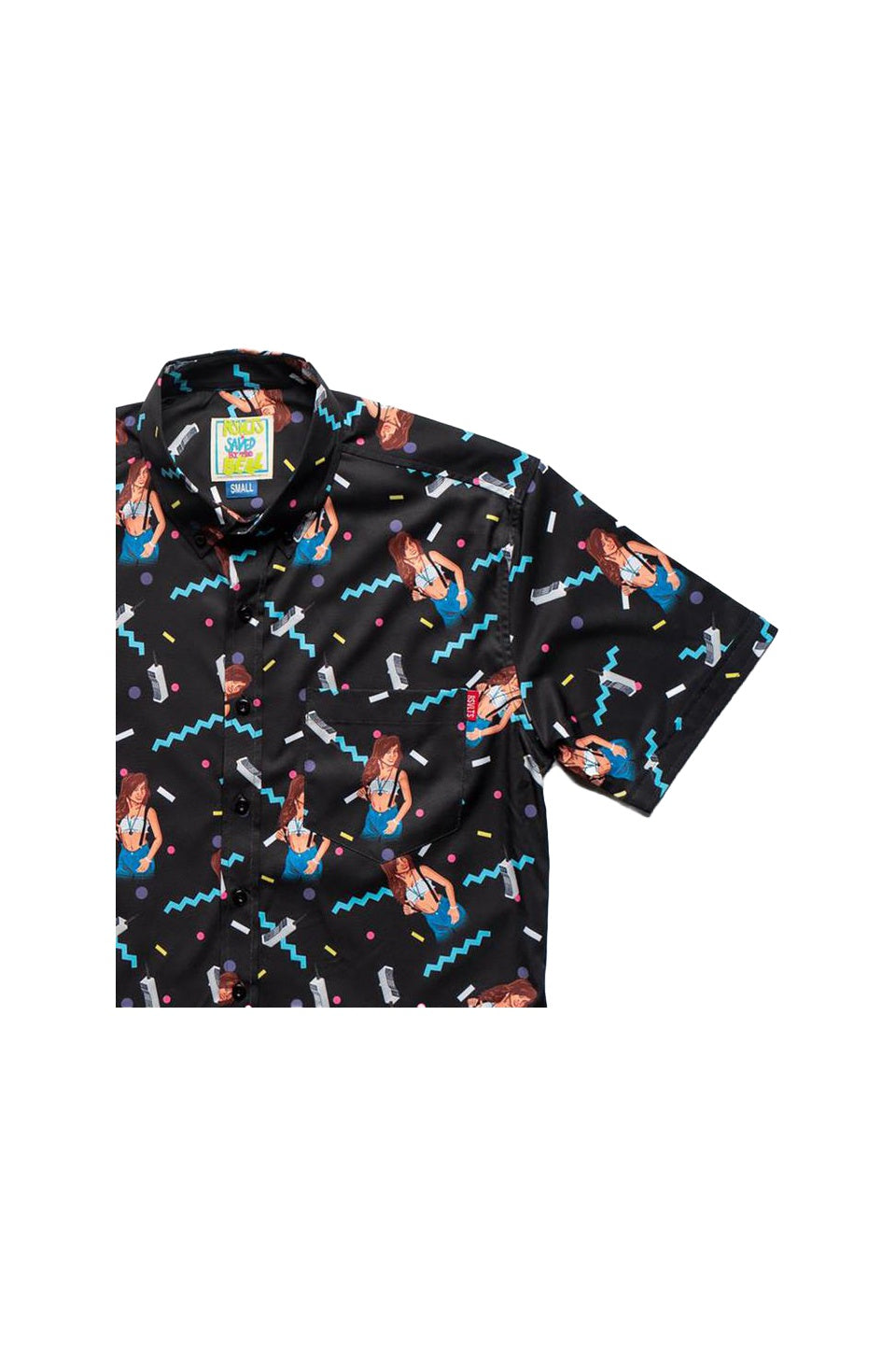 Kelly Kapowski Saved By The Bell Short Sleeve Shirt