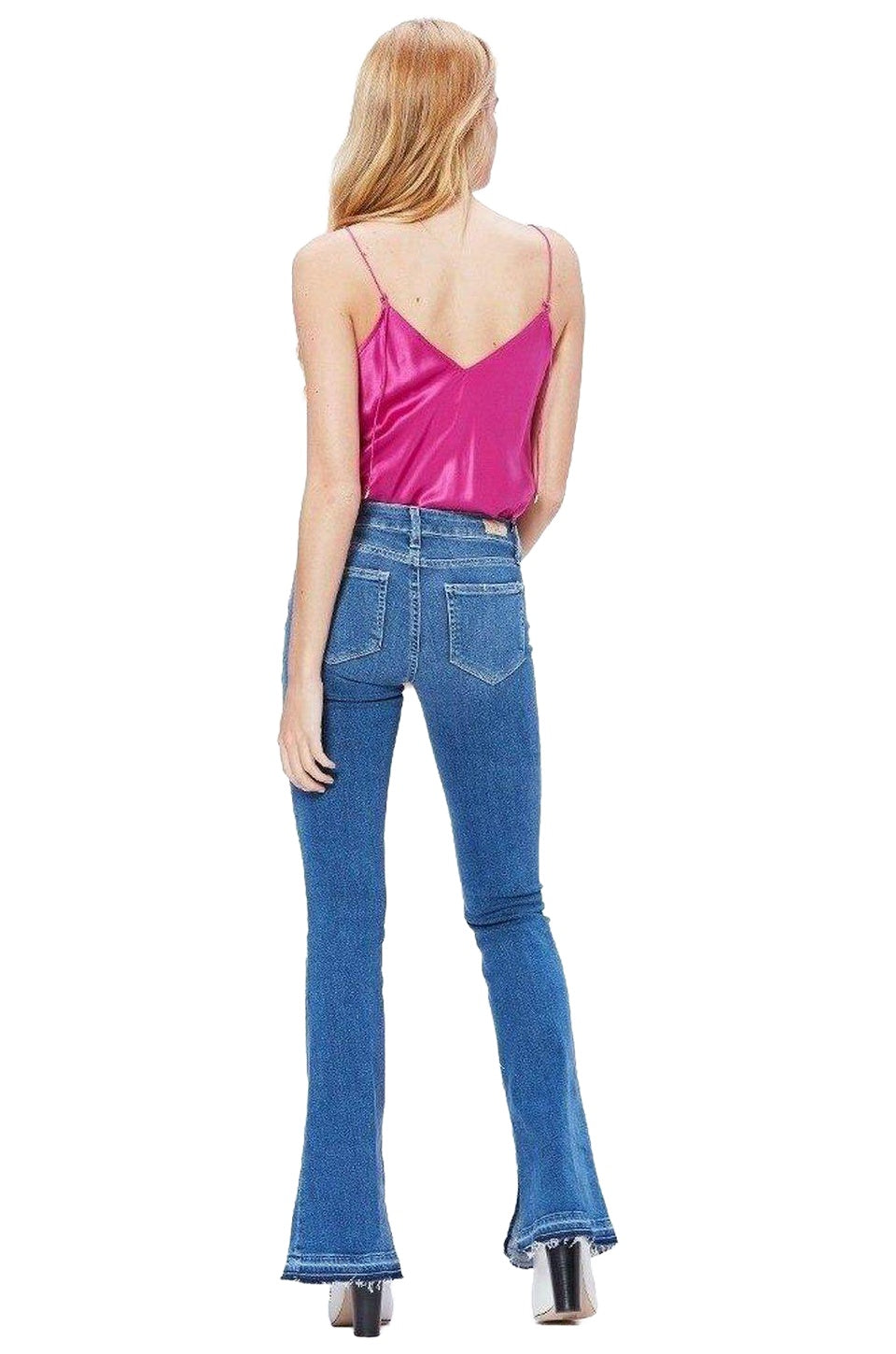 Paige Lou Lou Flare Jeans With Undone Hem In Annabella
