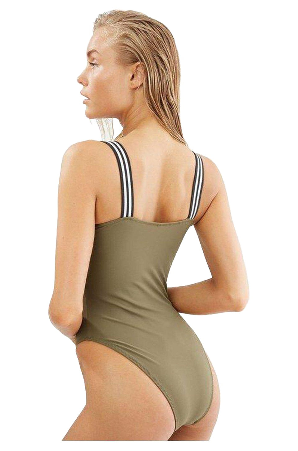 Solid & Striped The Riley One Piece Swim In Olive