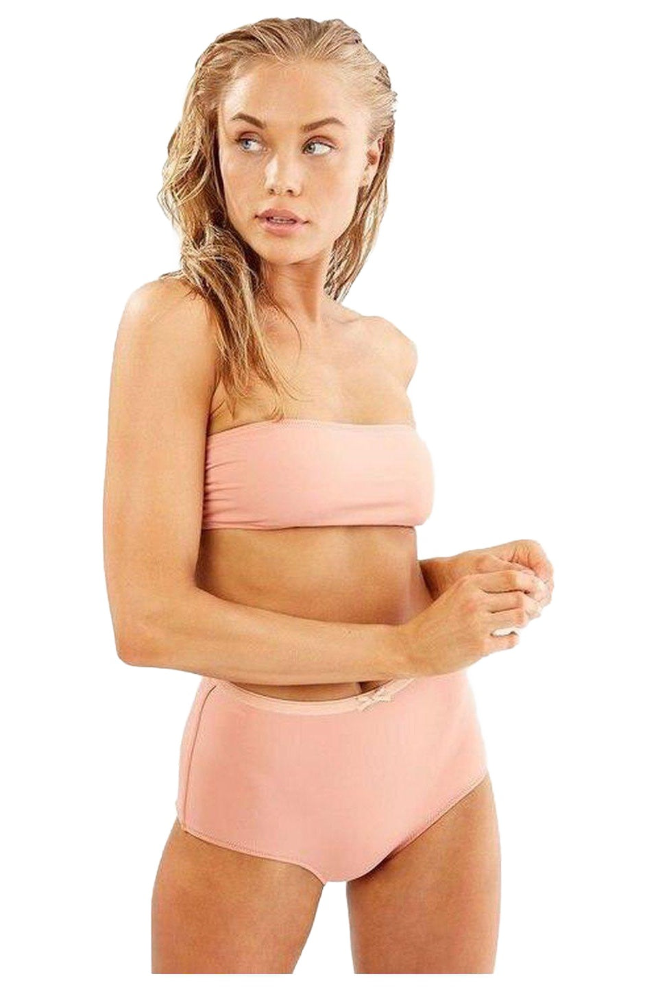 Solid & Striped The Violet Swim Top In Matte Blush