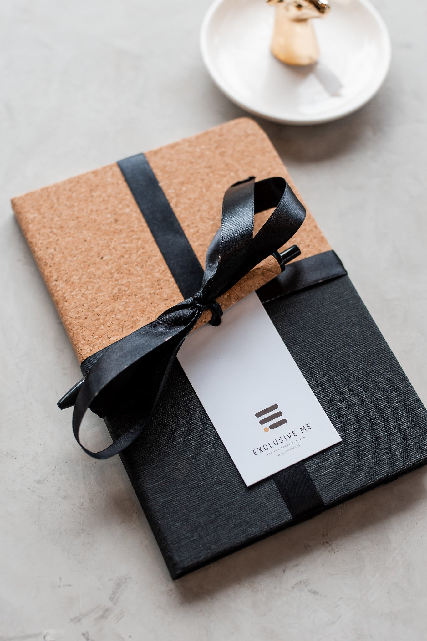 CORK & BLACK NOTEBOOK