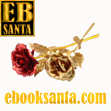 Load image into Gallery viewer, Valentine Golden Rose For Your Most Beloved Once !!!!! - E-Book Santa