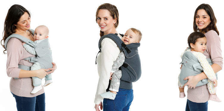 With Flexia, you can wear your baby on the front, hip, or back