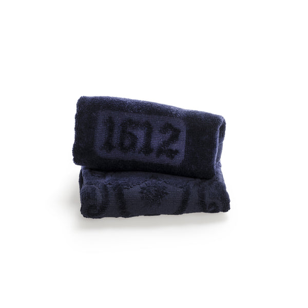 Terry Cloth navy blue Washcloth  officina-smn-usa-ca.myshopify.com Officina Profumo Farmaceutica di Santa Maria Novella - US