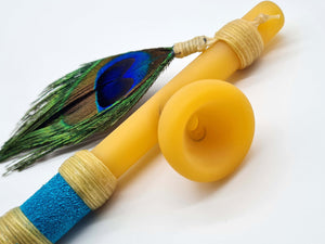 Hunter Peace Pipe by Owlsfeather Glass