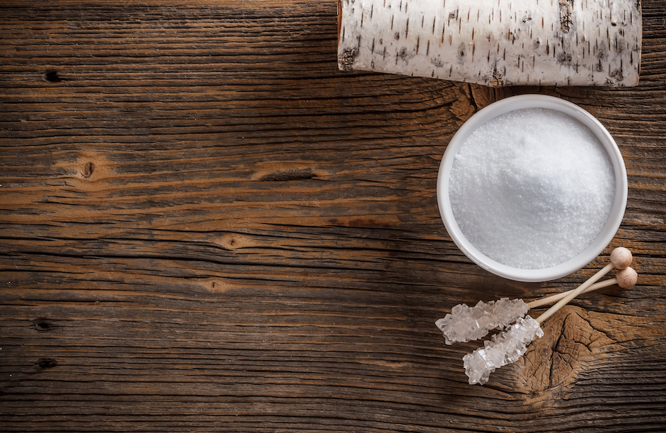 xylitol on a wooden table