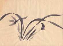 Load image into Gallery viewer, Japanese Spring Orchid Sumie Brush Painting - Greeting Card